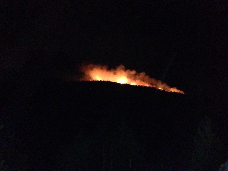 Пожарът над Кладница от далече