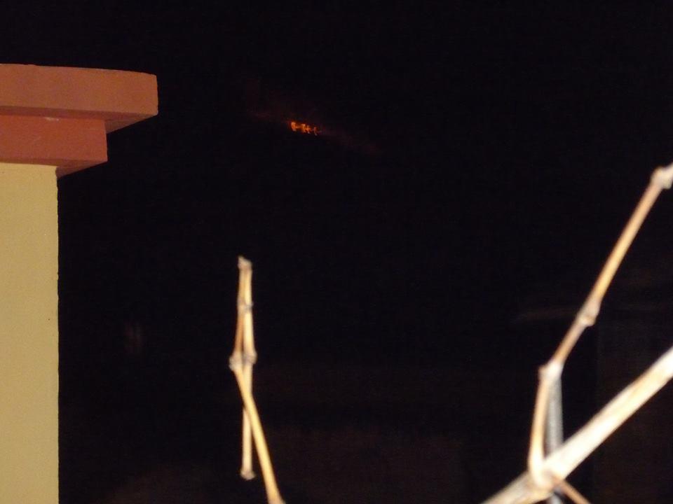 Пожарът над Кладница гледан от Драгичево