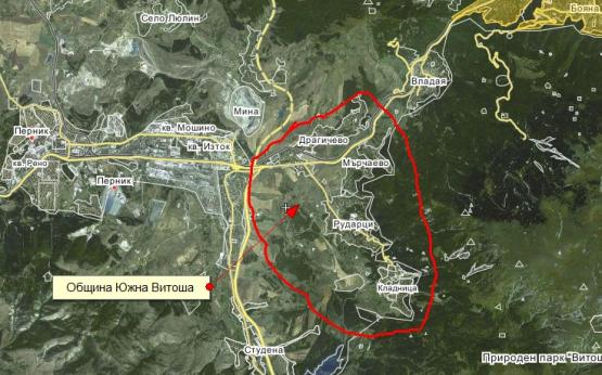 Карта на новата община