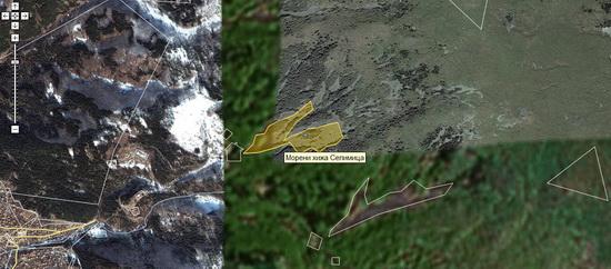 Видимост на Wikimapia около хижа Селимица