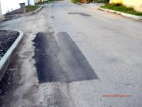 Закърпена дупка на улица Цар Самуил в Кладница