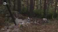 Местопрестъплението край Кладница където бе намерен запален труп на нерегламентирано сметище