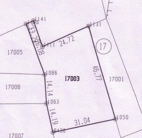 1325m2 скица на имот