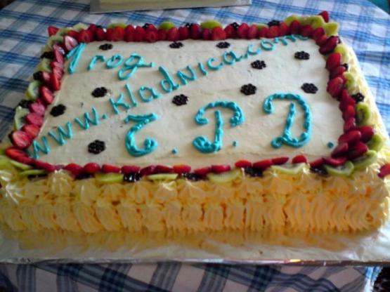 Тортата за първия рожден ден на сайта на Кладница