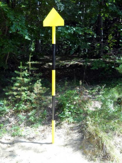 Стълбова маркировка на паршрута от хижа Селимица до Ярлово